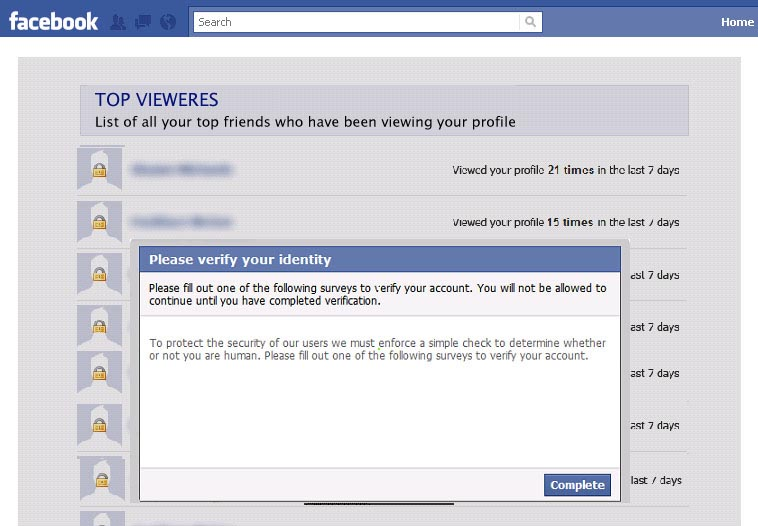 who is looking at your facebook profile